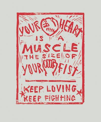 """Keep Loving, Keep Fighting"" by Dalia Sapon-Shevin."