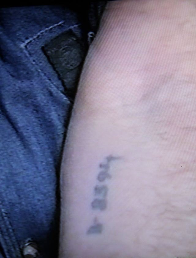 The number tattooed on Simon Korn's arm at Auschwitz.