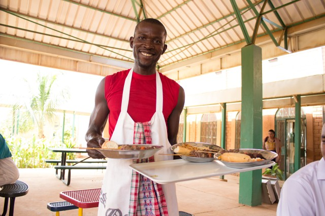 Of course, Issoufou and the kitchen staff prepared a great meal of brochettes and fries!